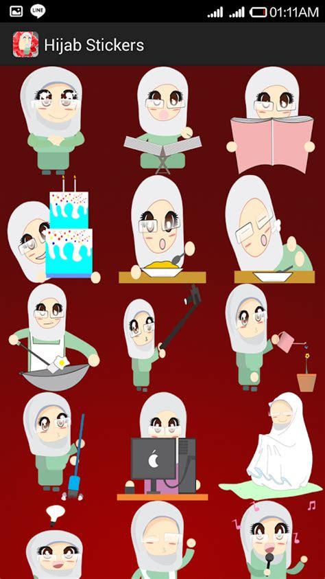 gambar hijab emoticon mymfb facebook alternative gambar