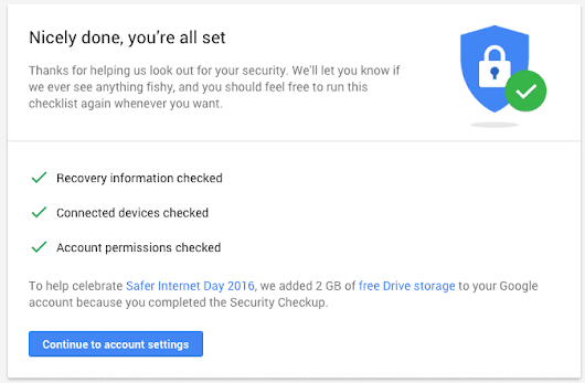 Google Offering 2GB of Drive Space to Secure your Account | Androidheadlines.com