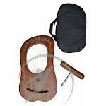 Lyre Harp 10 Metal Strings Celtic Piping Free Carry Bag
