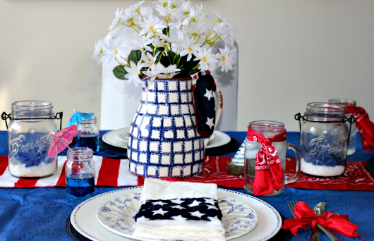 Easily Create A Fun And Inexpensive Patriotic Tablescape - Our Crafty Mom