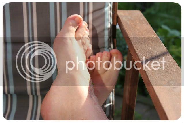 Füße hoch legen
