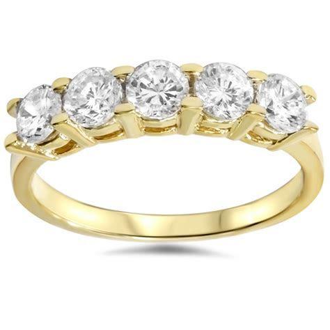 1 1/4ct Diamond Wedding 14k Yellow Gold Anniversary Ring 5