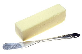 Butter and a butter knife