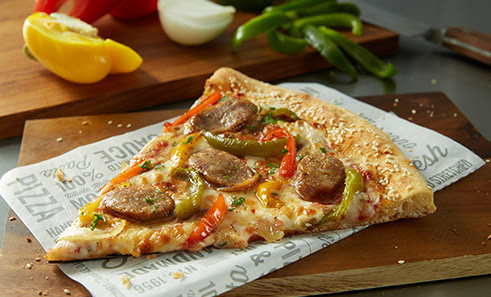 Sbarro Redesigns & Launches Sausage+Peppers Pizza