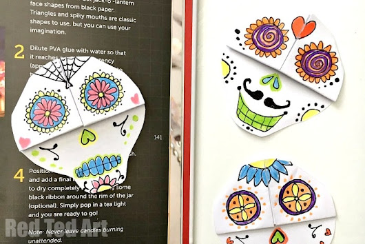 DIY Day of the Dead Bookmarks - Red Ted Art's Blog