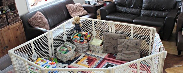 Todays Hint How To Create A Fun And Safe Play Space In A Small