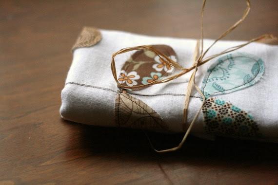 flour sack towel- greens
