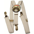Private Island White Child Suspenders 1298
