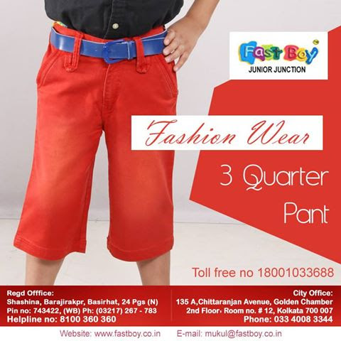 The need to buy boy's 3 quarter pants for your son. – Fastboy – Junior Junction