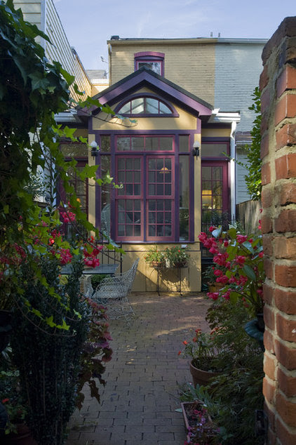 traditional patio by Christine Kelly / Crafted Architecture