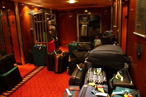 Luggage ready for Disembarkation