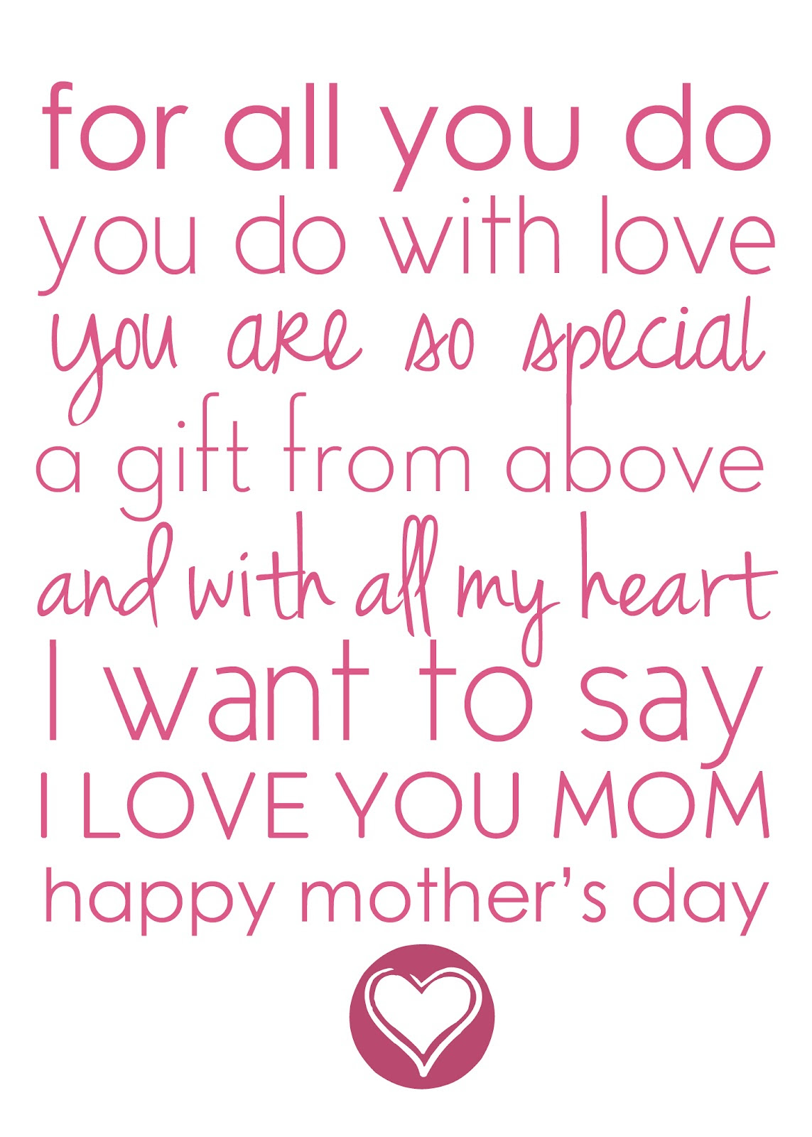 Mothers Day Poems From Son Short 1