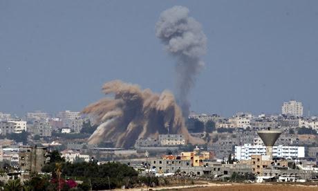 Israeli air strike in the northern Gaza Strip