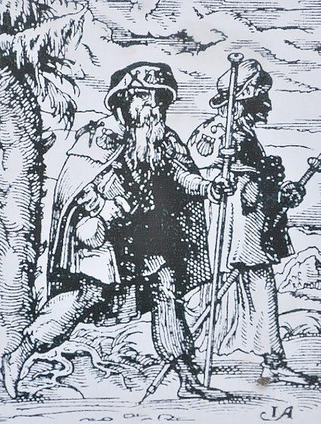 pelgrims op de Jacobsweg, 1568