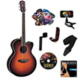 Yamaha CPX500II Old Violin Sunburst Acoustic Electric Guitar BUNDLE w/Legacy Kit (Tuner, DVD and More)