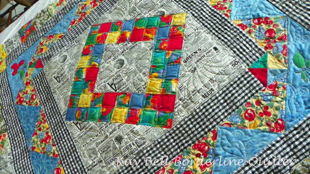 Janets Newsprint quilt 2