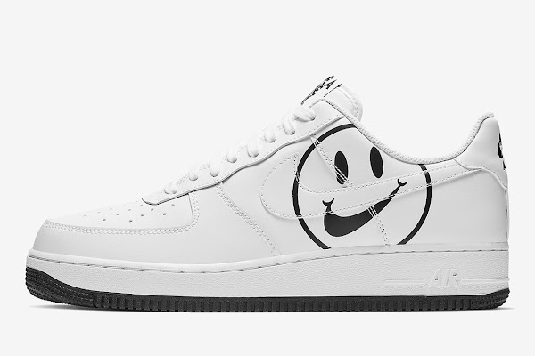 "ec64fe6764 The ""Have A Nike Day"" Smiley Face Appears On The Nike Air Force 1"