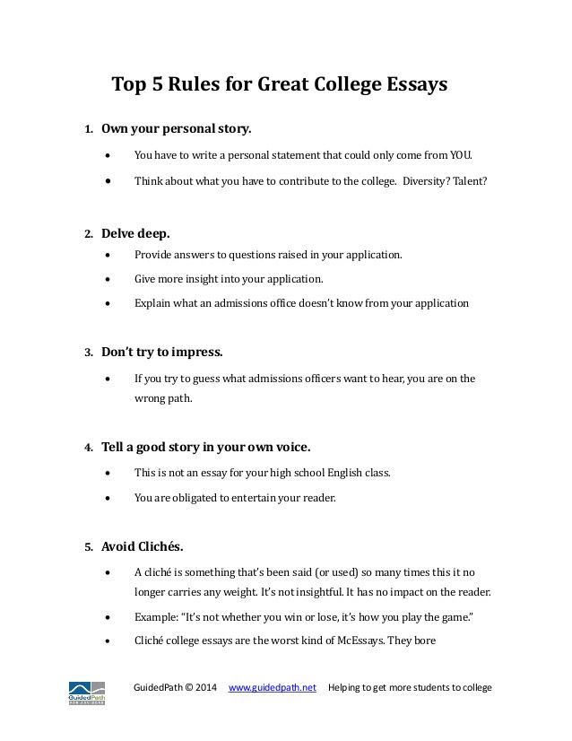 how to write good papers in college