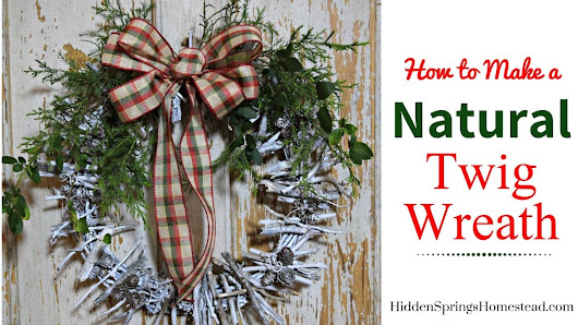 How to Make a Twig Wreath