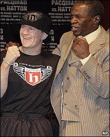 Ricky Hatton and Floyd Mayweather Sr