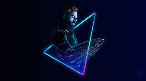 Neon Infinity War Cap (Credits to @aniketjatav on IG