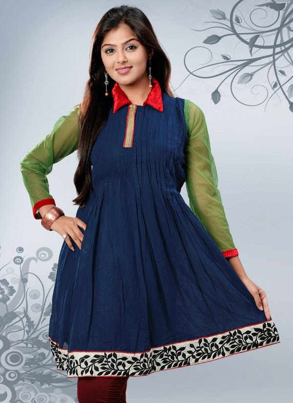 Womens-Girls-Summer-Kurti-Kurta-with-Tights-Jeans-Collection-2013-New-Fashionable-Dress-
