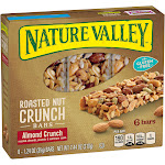 Nature Valley Roasted Nut Crunch Bars - 6 count, 7.2 oz box