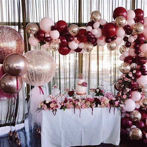 A divine set up of rose gold, burgundy and baby pink