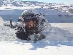 IDF soldier wearing one of these warm hats in the snow --- yes, it snows in Israel