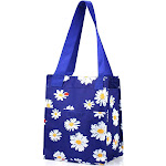 """Zodaca Women Leak Resistant Reusable Insulated Lunch Bag Cooler Picnic Travel Food Box Tote Zipper Carry Bags (Size: 11.5""""L x 6.5""""W x 9""""H) - Navy"""
