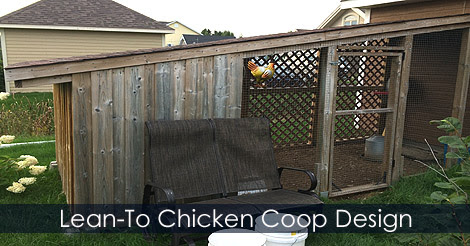 How to Build a Backyard Chicken Coop - Lean To Chicken Coop Plans