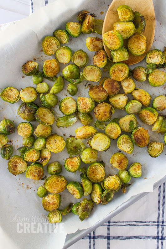 Easy Oven Roasted Brussels Sprouts | Domestically Creative