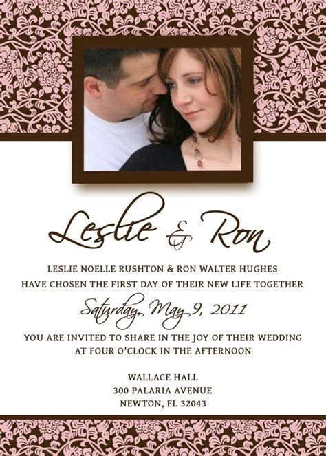 Homemade Wedding Invitation Template   invitation