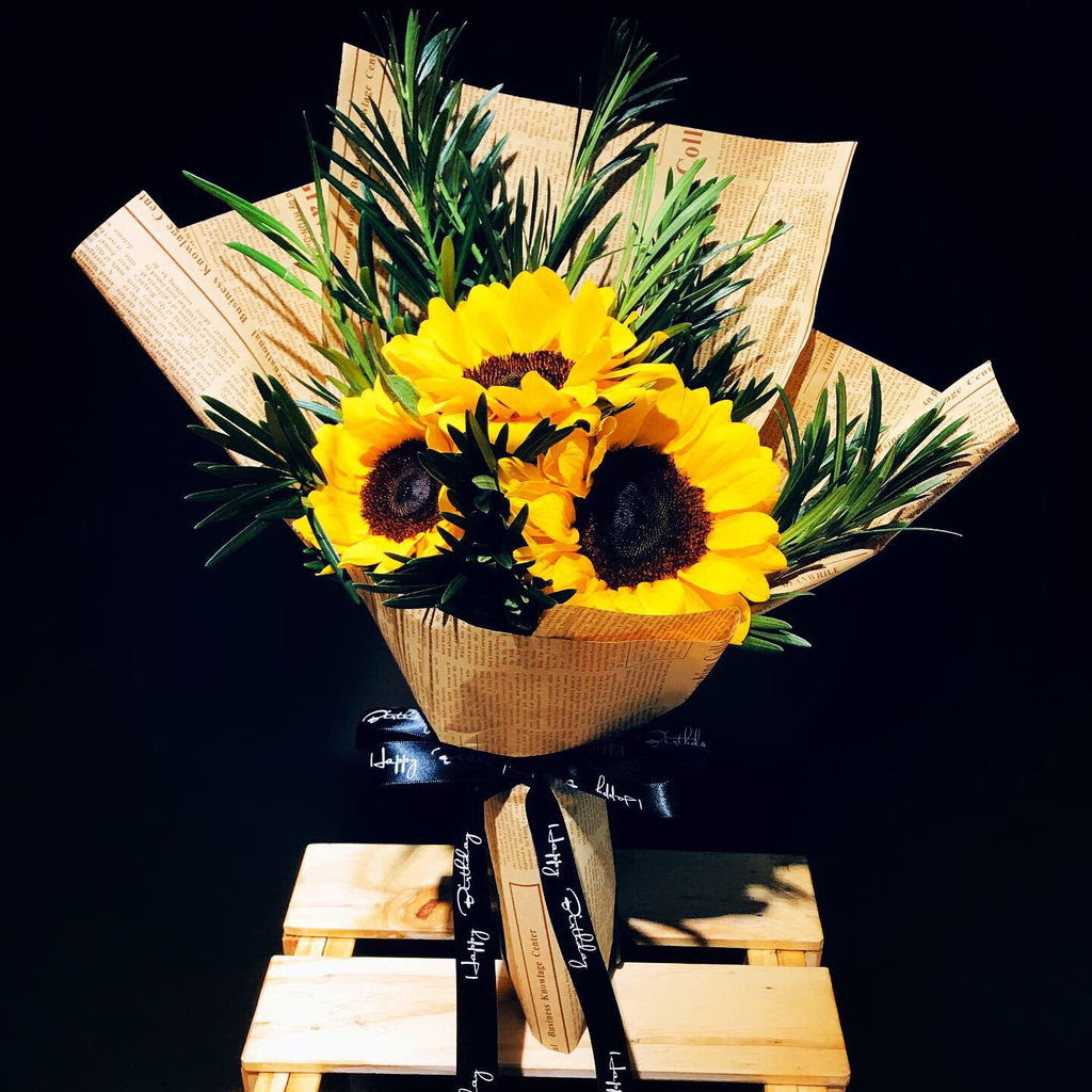 Sunflowers Bouquet Fd074 Plush Lovers