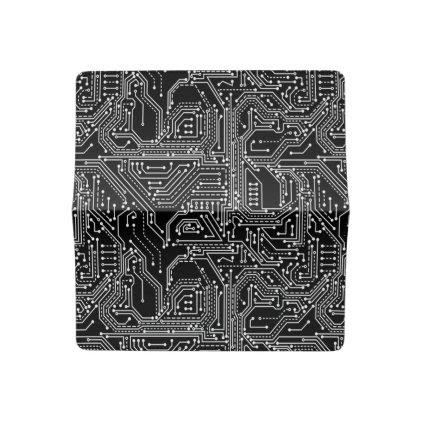 Computer Circuit Board Checkbook Cover