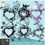 Swirly Heart Frames 1 Templates TS - CU