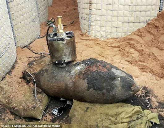 WWII Bomb Found at Construction Site