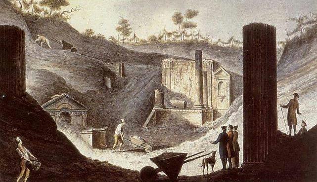 File:Pietro Fabris - Ausgrabung des Isis-Tempels in Pompeji.jpg
