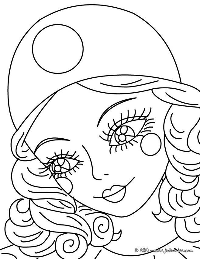 Coloriages Portrait Arlequin à Colorier Frhellokidscom