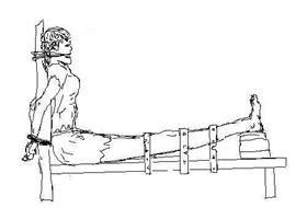 酷刑演示:老虎凳