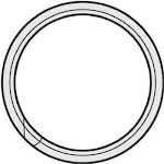 "Hy-ko Kb103 Split Key Ring, 3/4"", 100-pack"