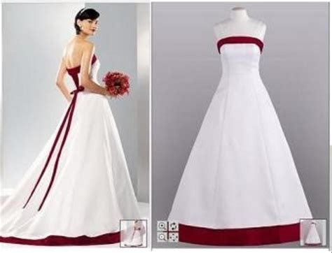 David's Bridal Apple Red And White Corset Dress Wedding