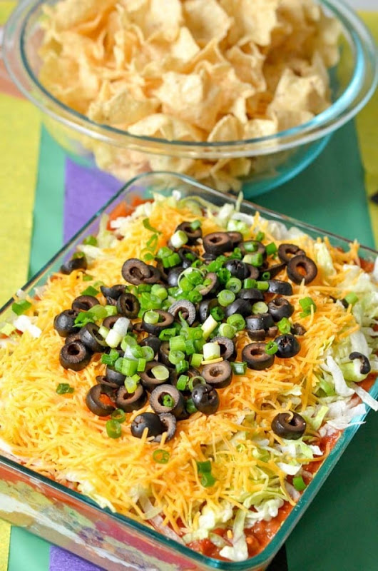 Courtney's Sweets~ Best 7 Layer Taco Dip and more for Game Day