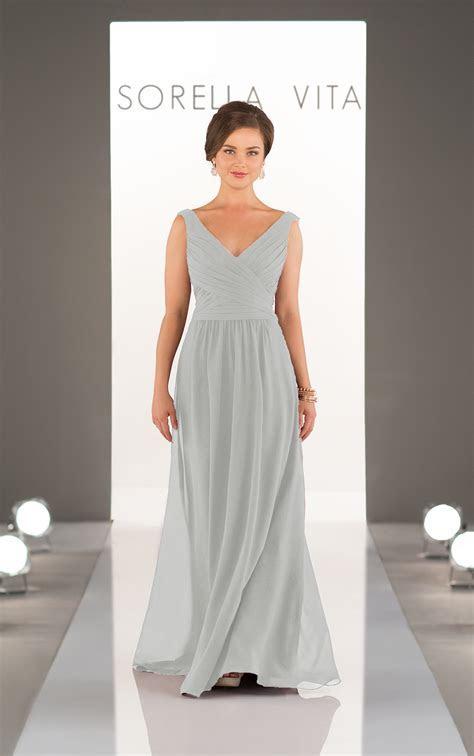 Bridesmaid Dresses   Classic Chiffon V Neck Bridesmaid