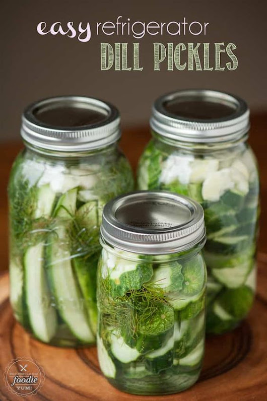 Pin of the Week: Easy Refrigerator Pickles