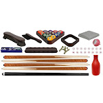 Ozone Deluxe Pool Table Accessories Kit - Cherry Mahogany at Ozone Billiards