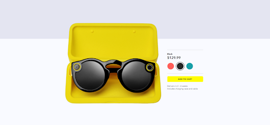 Snap Spectacles now available for purchase online