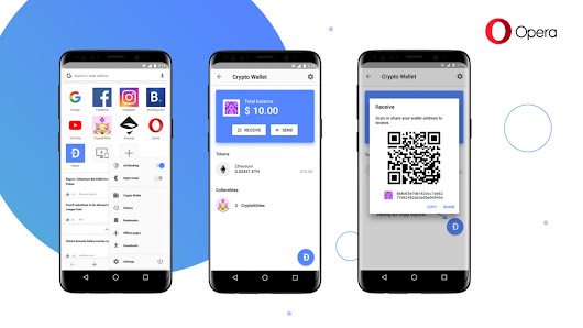 Opera tests an Android in-browser cryptocurrency wallet