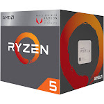 AMD RYZEN 5 2400G Quad-Core 3.6 GHz 3.9 GHz Turbo Socket AM4 65W YD240