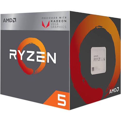 AMD RYZEN 5 2400G Quad-Core 3.6 GHz 3.9 GHz Turbo Socket AM4 65W YD240